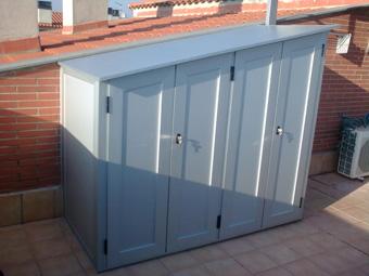 Casa residencial familiar mueble lavadora y secadora for Armarios de pvc para terrazas